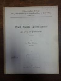 """Söhring, David Humes """"Skeptizismus"""" ein Weg zur Philosophie,"""