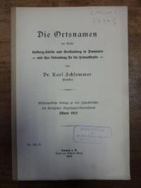 Schlemmer, Die Ortsnamen der Kreise Kolberg-Körlin und Greifenberg in Pommern un
