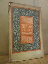 Deutscher Bücheralmanach 1921,