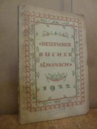 Deutscher Bücheralmanach 1922,