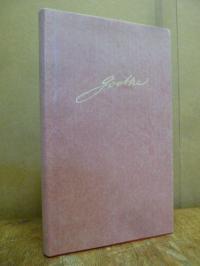 Goethe, Goethe Kalender für das Jahr 1983, in rotem Ganzleder,