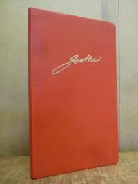 Goethe, Goethe Kalender für das Jahr 1986, in rotem Ganzleder,