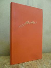 Goethe, Goethe Kalender für das Jahr 1990, in rotem Ganzleder,