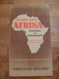 Columbus-Karte Afrika – Kolonial und Verkehrskarte – Von der Ostsee bis zum Kap,