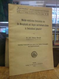 Ewald, Welche wirklichen Fortschritte hat die Metaphysik seit Hegels und Herbart