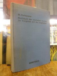 Katayama, Notizbuch der deutschen Syntax im Vergleich mit der englischen,