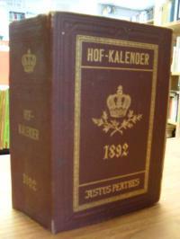 Gothaischer Genealogischer Hofkalender 1892