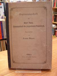 Beyer, Ergänzungsheft zu Beyer-Passy, Elementarbuch des gesprochenen Französisch