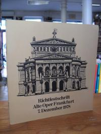 Magistrat der Stadt Frankfurt am Main – Richtfestschrift Alte Oper Frankfurt