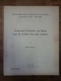 Mittag, Erzbischof Friedrich von Mainz und die Politik Otto des Großen,