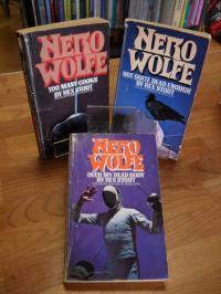 Stout, Nero Wolfe Konvolut von drei Romanen – Over My Dead Body / Too Many Cooks
