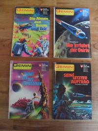Hary, Gemini – Nr. 3 / Nr. 8 / Nr. 26 / Nr. 35 – Konvolut von 4 Gemini Science F